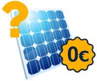 Icon einer kostenlosen Solaranlage mit Fragezeichen