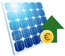 Solarmodul mit Rendite Symbol