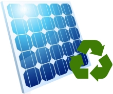PV-Modul mit Recycling Icon