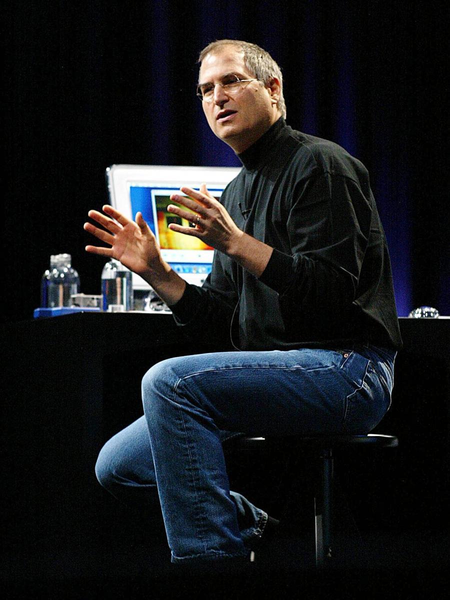 Steve Jobs. 2002. (AFP)