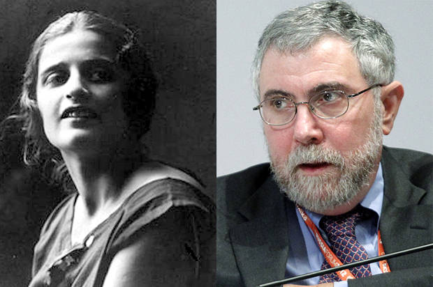 ayn rand paul krugman objectivism