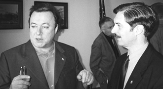 Hitchens with the author.