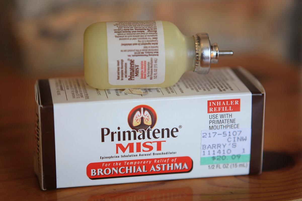 Primatene Mist, the only over-the-counter inhaler approved by the FDA to treat asthma, will no longer be available after December 31. The FDA is now banning sales of the product because it contains chlorofluorocarbons. (Getty Images)