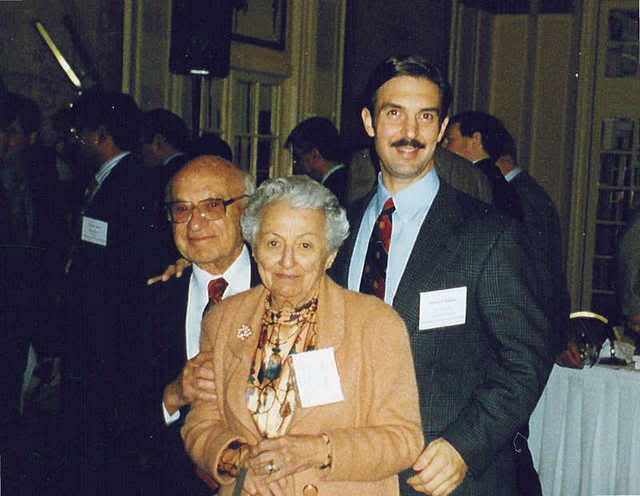 The author, with Milton and Rose Friedman