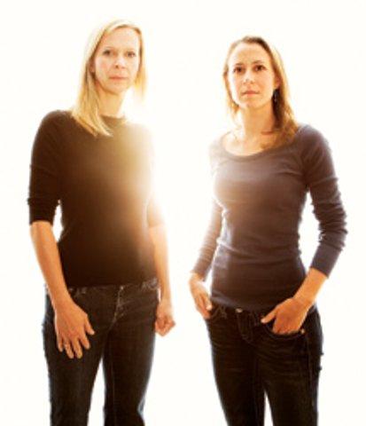 Linda Avey (L) and Anne Wojcicki, founders of 23andMe