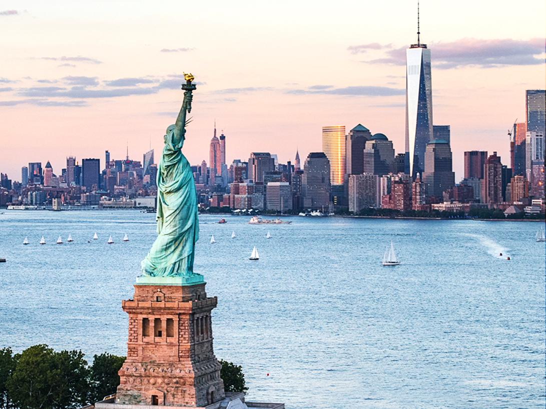 Statue of Liberty sky AA