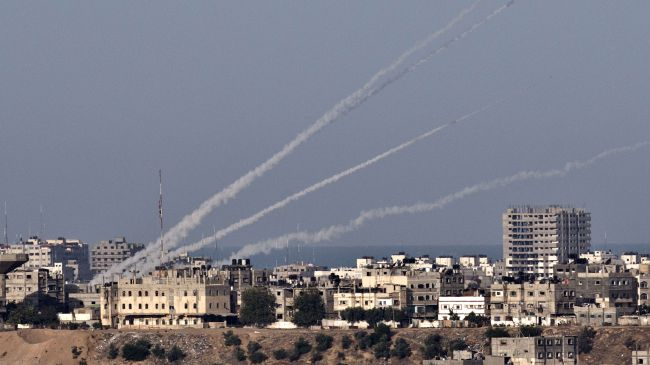 Palestinians in Gaza fire rockets into Israel.
