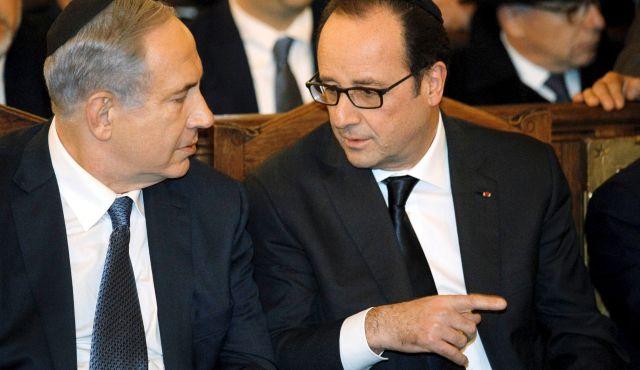 Netanyahu and Hollande
