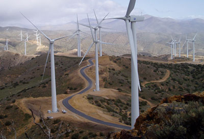Los Angeles' 120-megawatt Pine Tree Wind Project.
