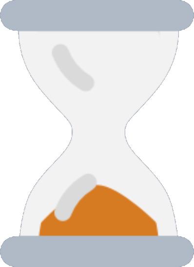 hour glass with orange sand