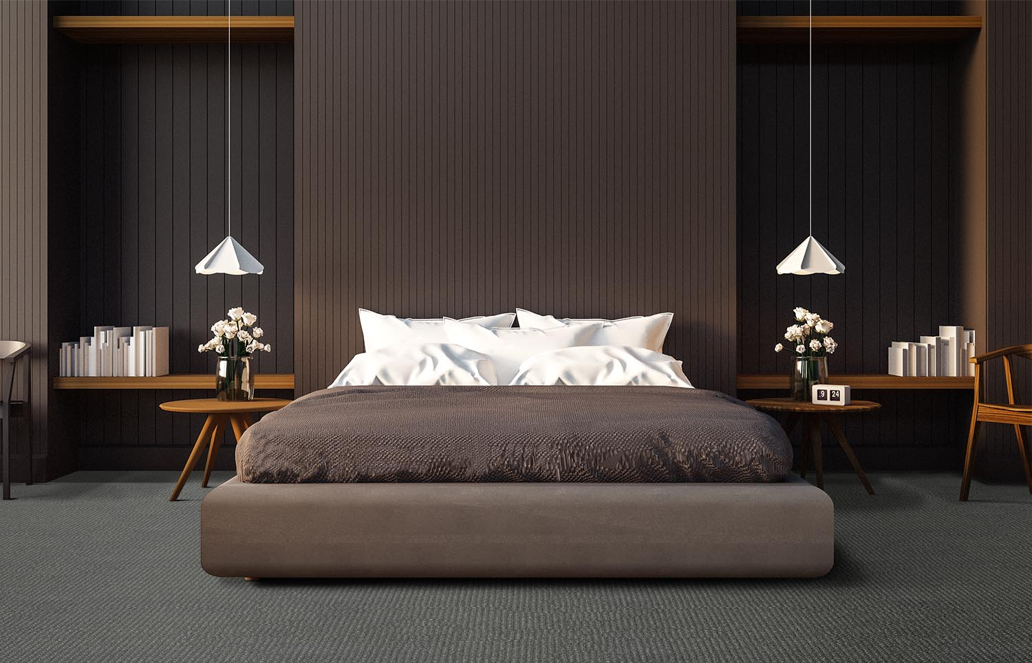 Co-Exist - Seamless Speckle contemporary bedroom
