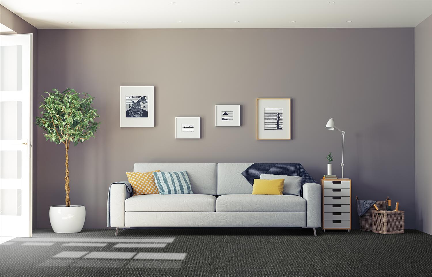 Co-Exist - Seamless Speckle classic living room