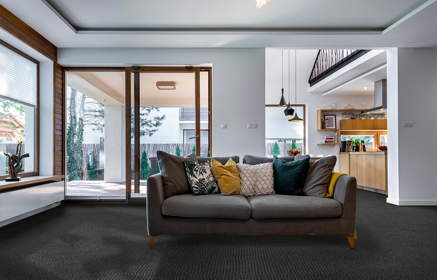 Co-Exist - Seamless Speckle contemporary living room