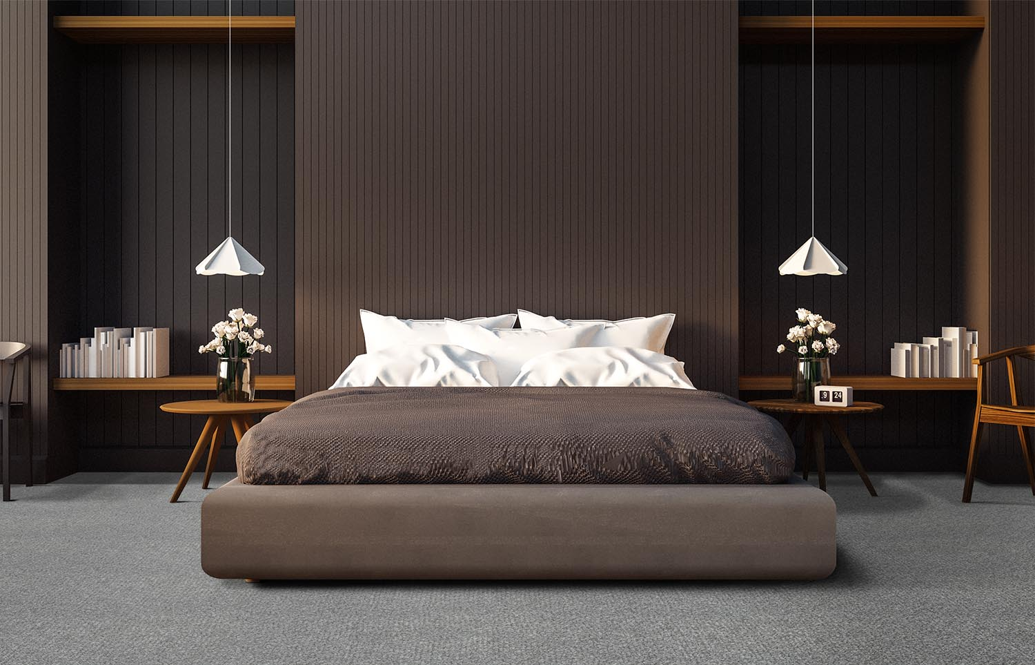 Immerse - Plunged contemporary bedroom