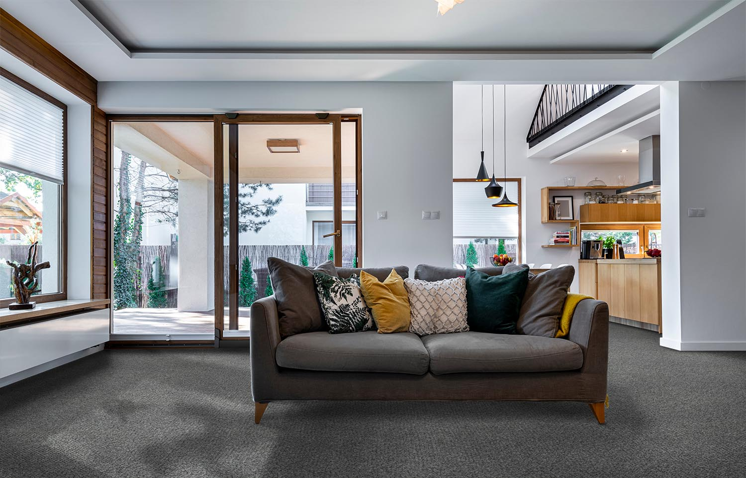 Immerse - Plunged contemporary living room