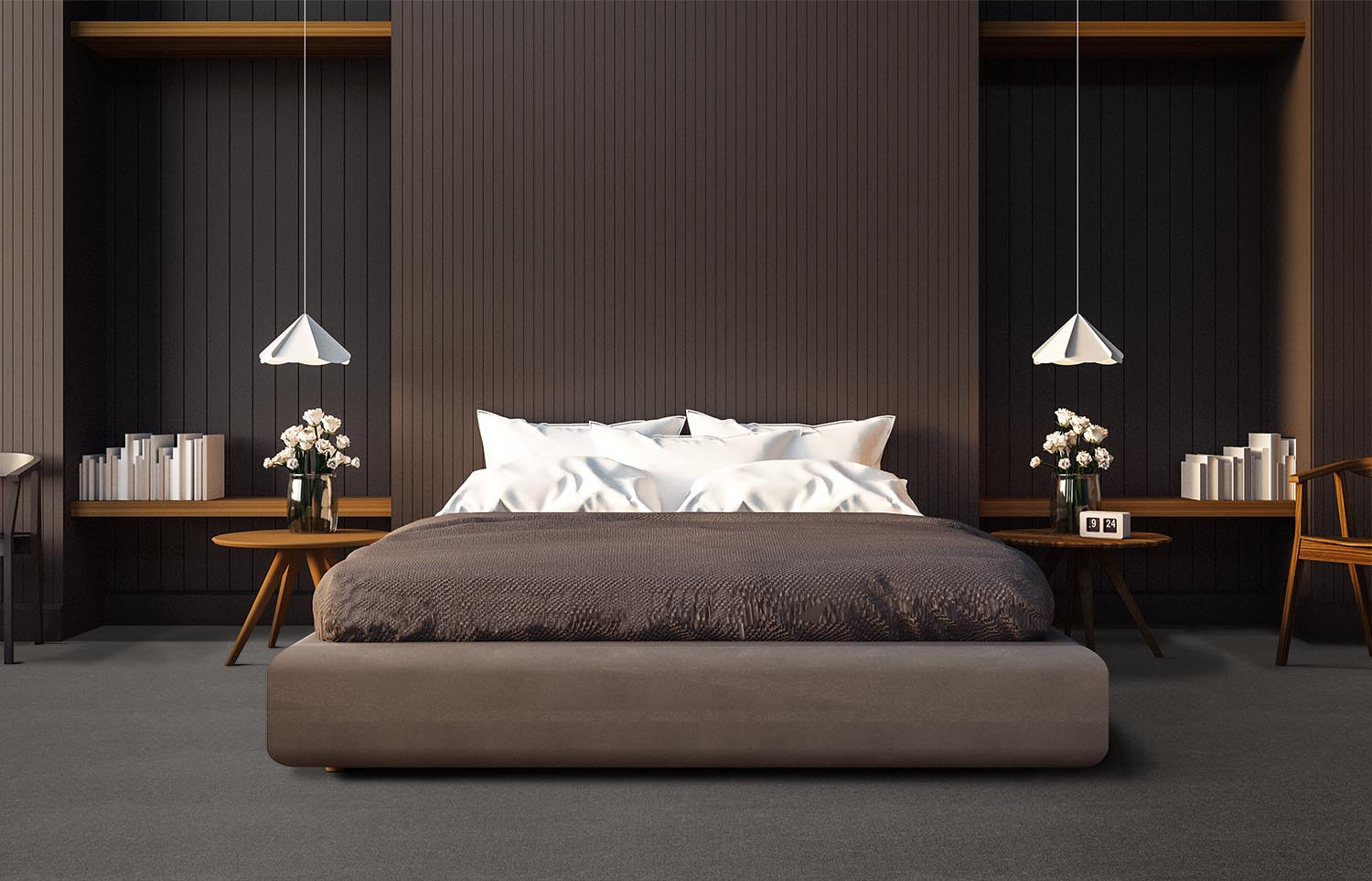Softology - S301 - Mink contemporary bedroom