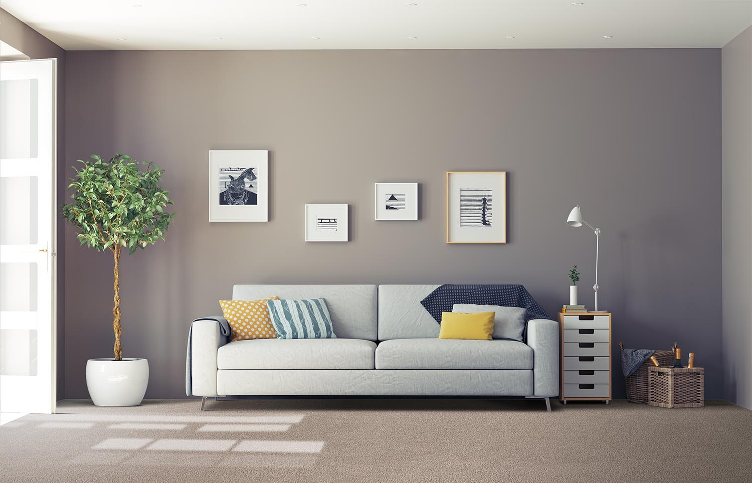 Softology - S201 - Fawn classic living room
