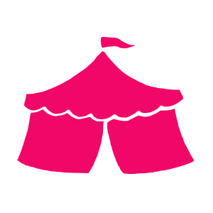 Event training icon: a pink circus tent.