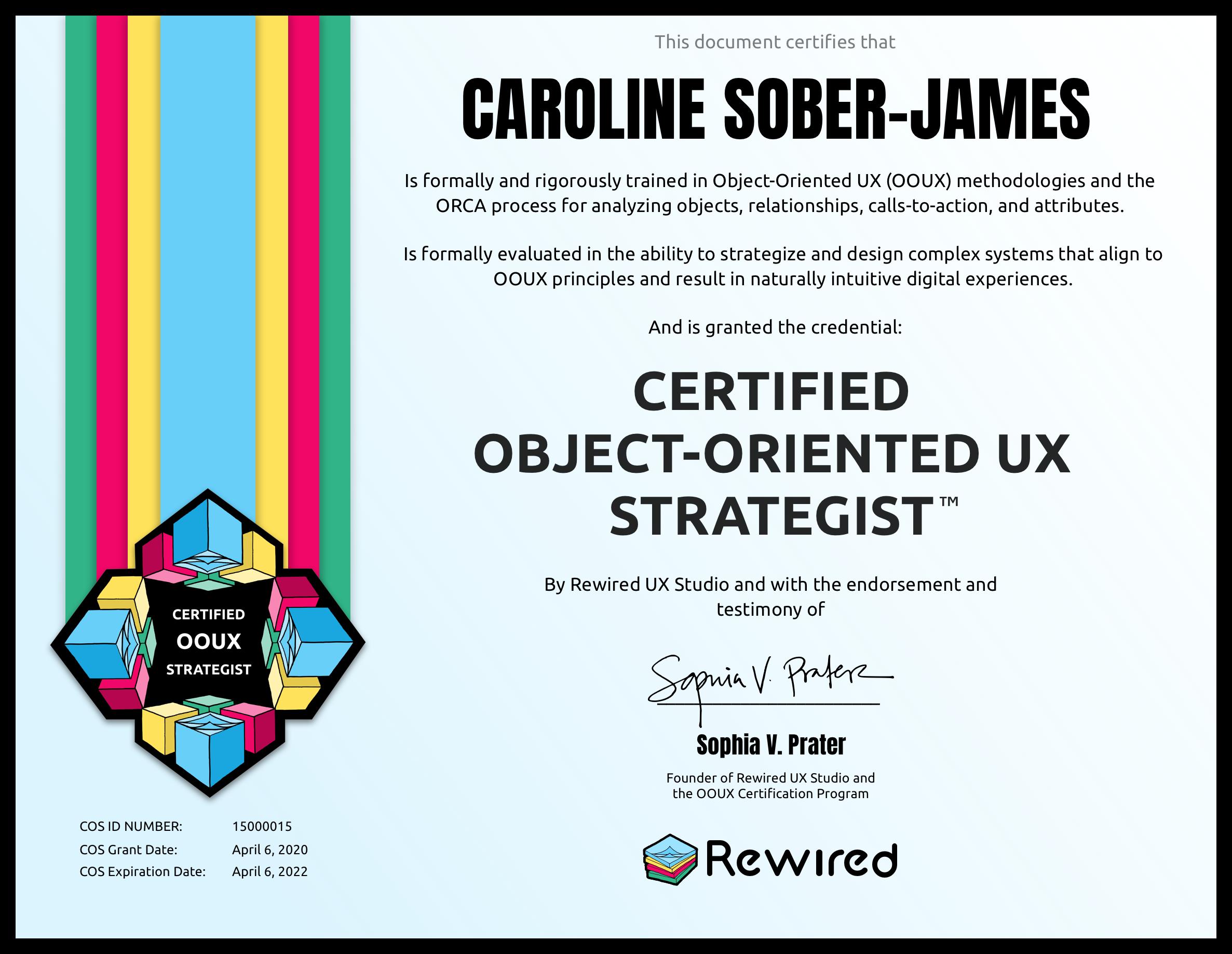 Caroline Sober-James