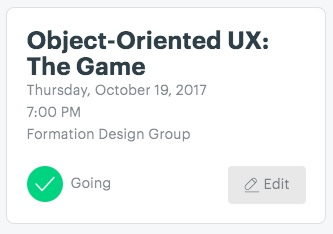 The meetup module on the Ladies that UX ATL parent page.