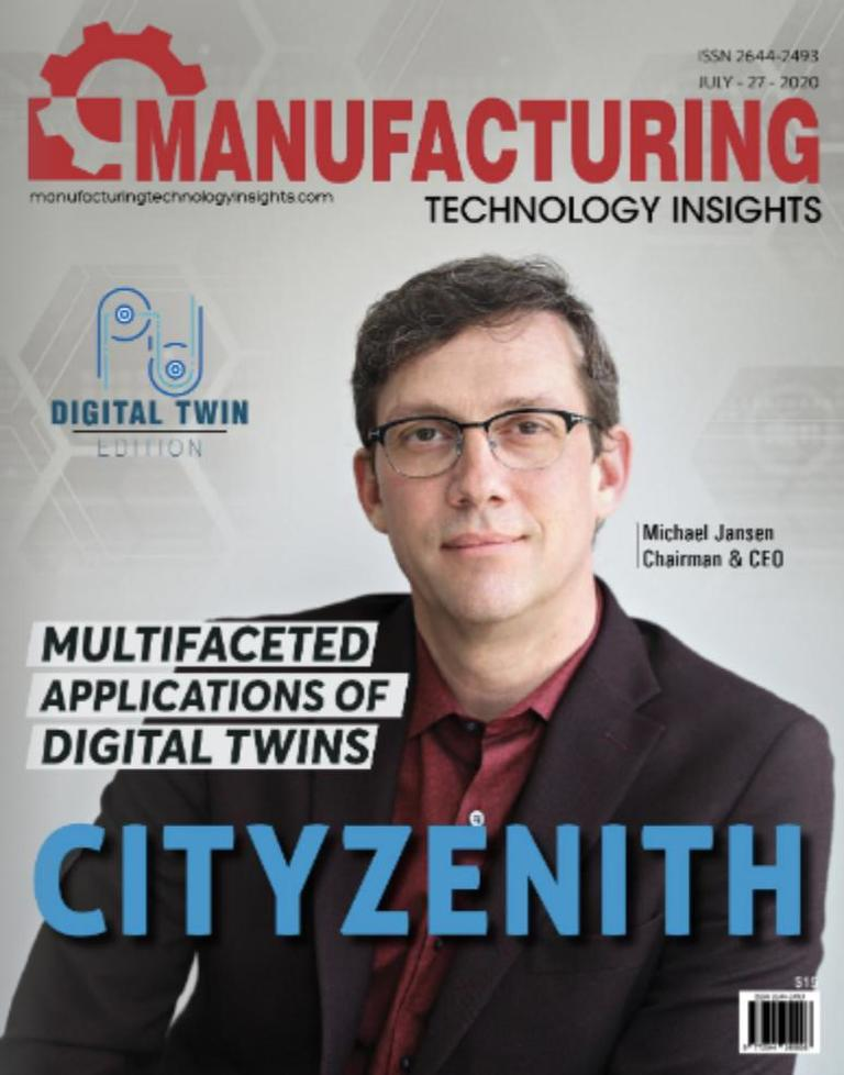 CEO Michael Jansen on the cover