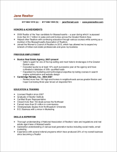 The Real Estate Agent Resume Examples Tips