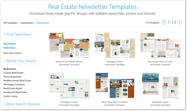 StockLayouts newsletter templates
