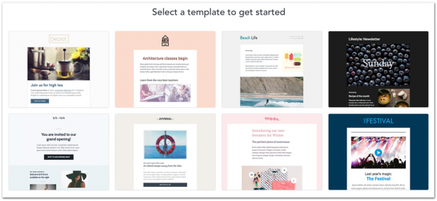 Campaign Monitor email marketing templates