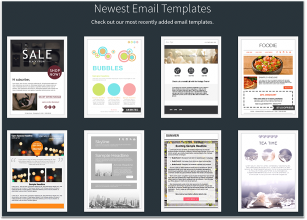 AWeber email marketing templates