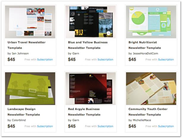 inkd newsletter templates