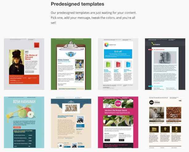 MailChimp email marketing templates