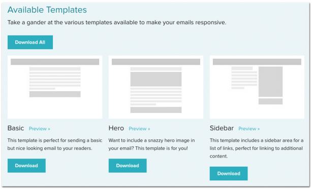Zurb newsletter templates