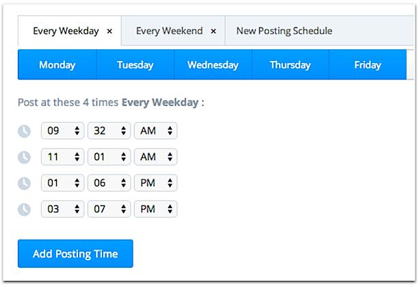 Social Media Scheduling Buffer