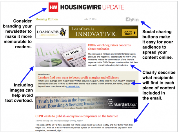 HousingWire email newsletter real estate