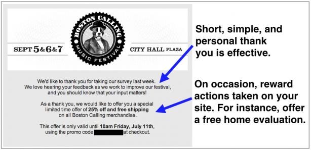 Boston Calling Festival transactional email
