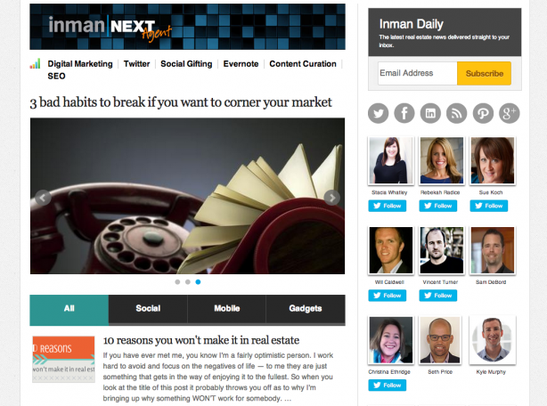 Inman News real estate blog