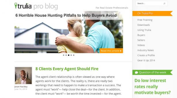 Trulia real estate blog