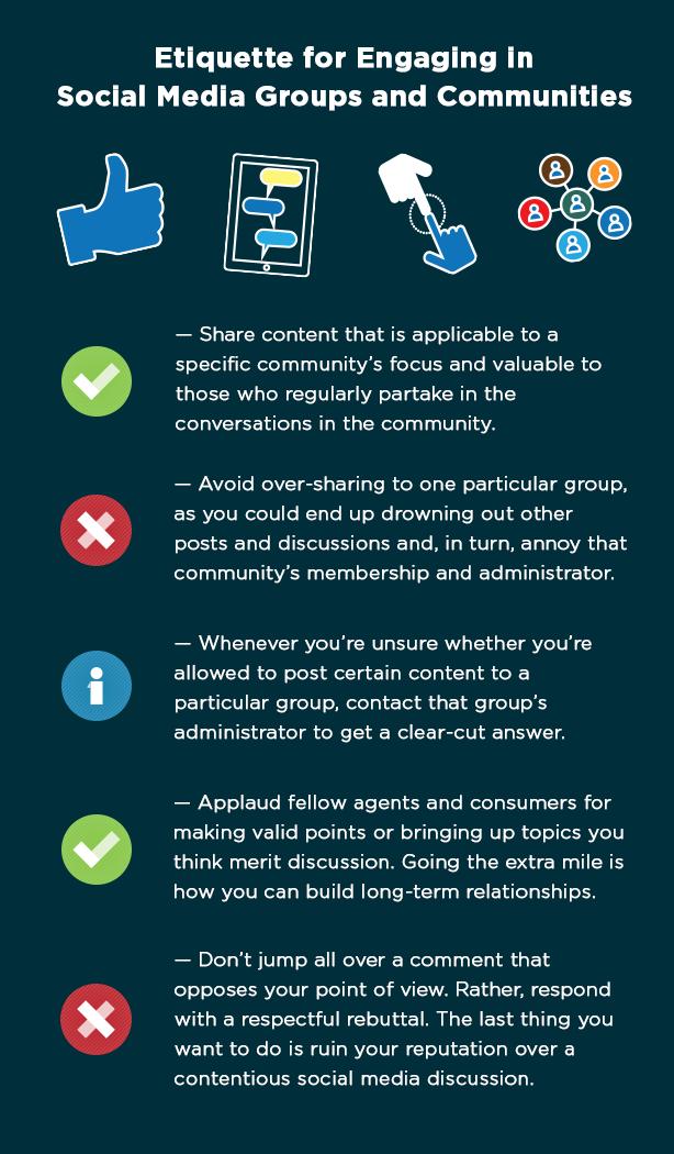 Real estate social media etiquette