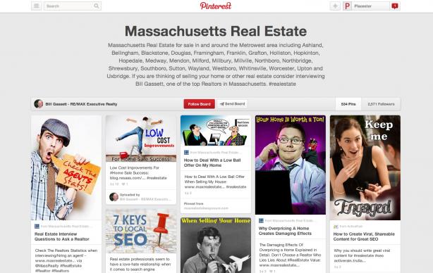 Real Estate Pinterest Pinboard