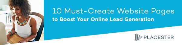 Placester ebook IDX real estate website pages lead generation