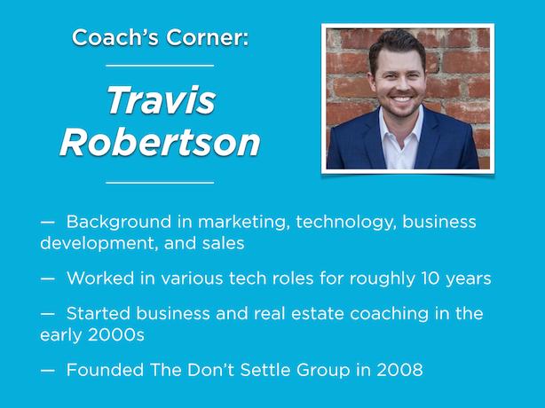 Real estate coaching Travis Robertson