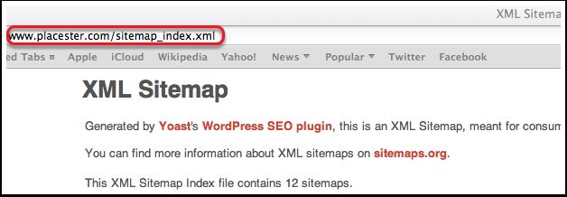 Copy sitemap for google webmaster tools