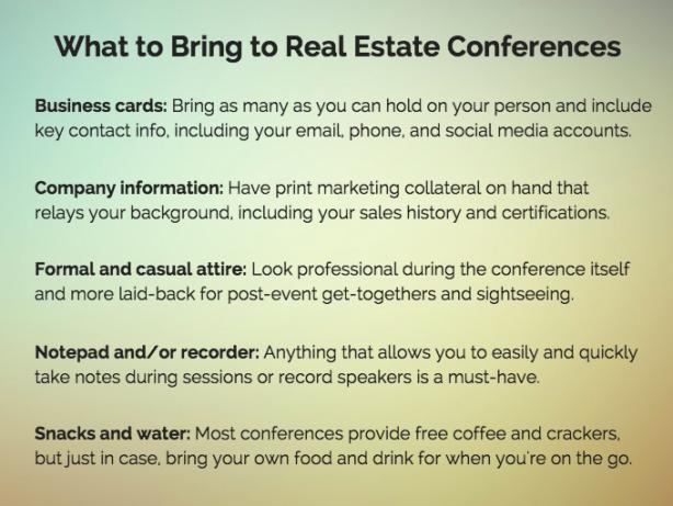 Real estate conference checklist