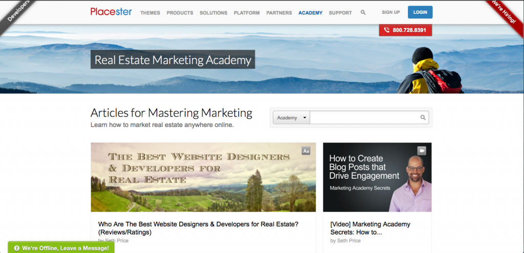 Real Estate Marketing Academy Page