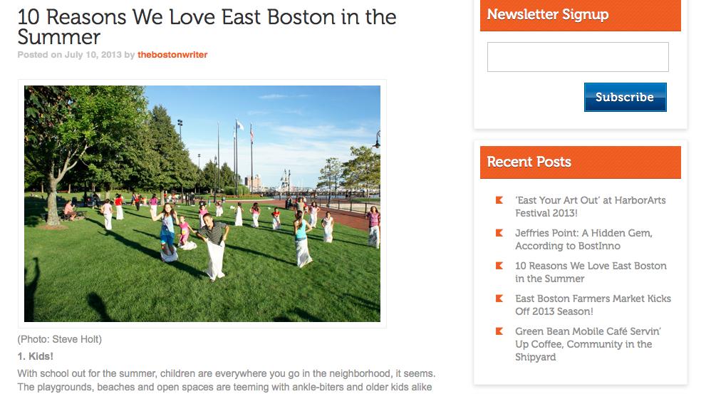 Live Eastie Blog Post Example