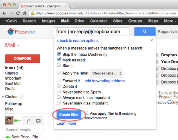 clean up your gmail inbox with filters