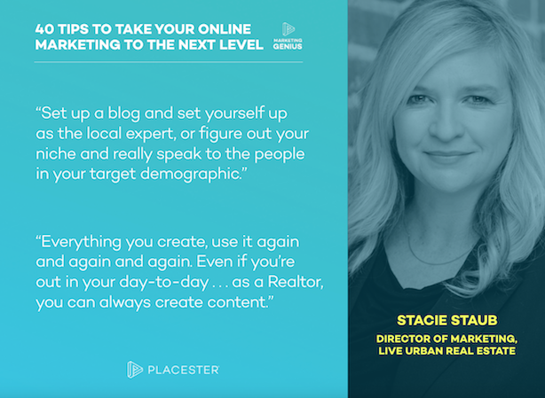 Placester Marketing Genius Podcast ebook Stacie Staub