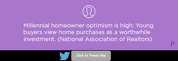 Millennial homeowner optimism National Association of Realtors