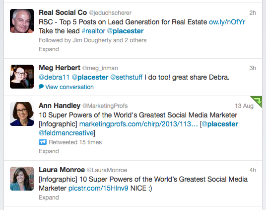 placester twitter feed snapshot
