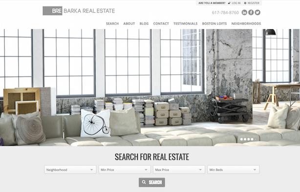 Placester real estate website Barka Real Estate